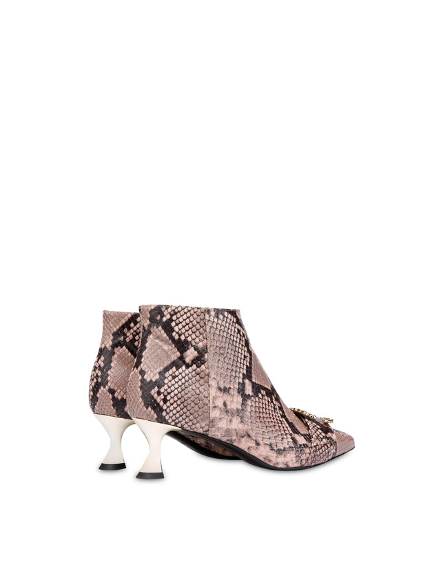 Breakfast At Tiffany's python print leather ankle boots Photo 3