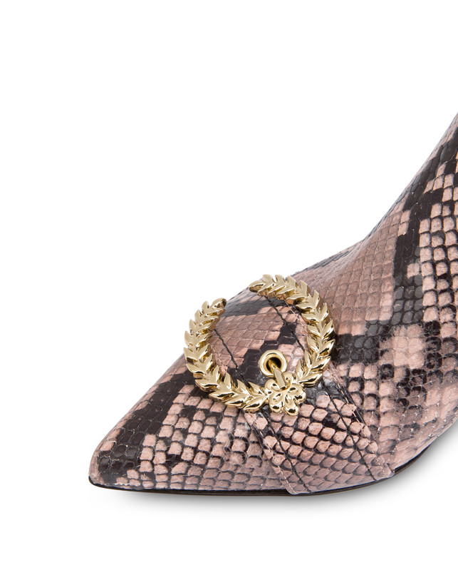 Breakfast At Tiffany's python print leather ankle boots Photo 4