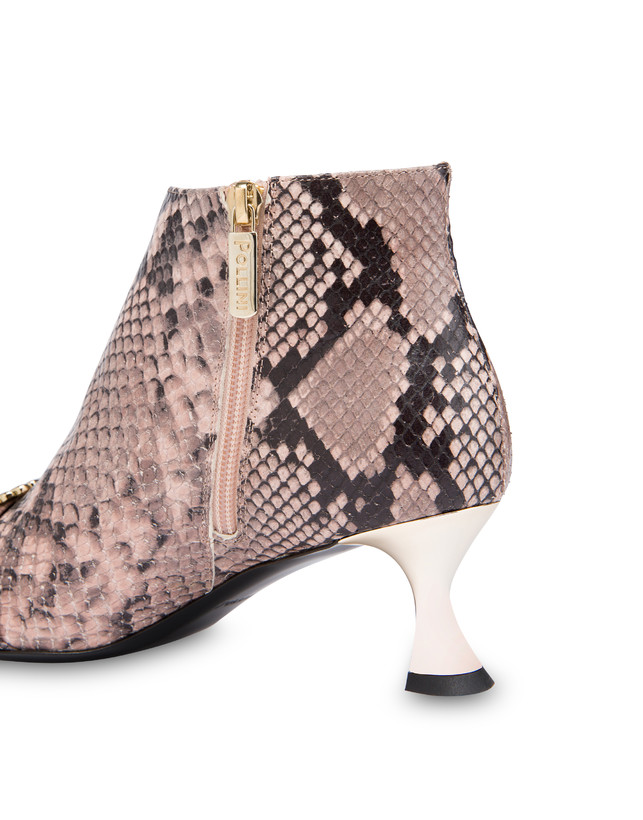 Breakfast At Tiffany's python print leather ankle boots Photo 5