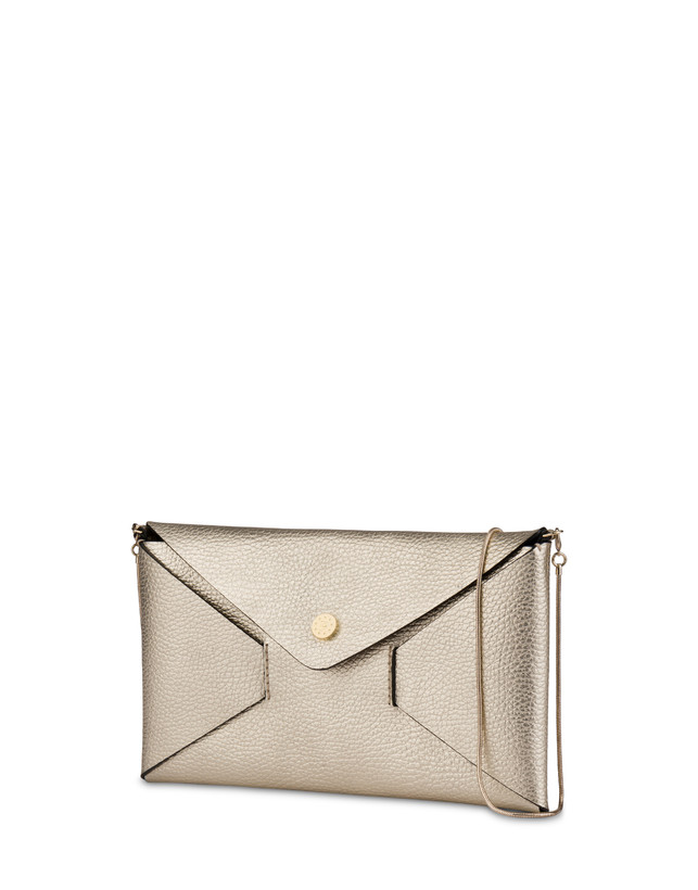 Mail clutchbag in laminated tumbled calfskin Photo 2