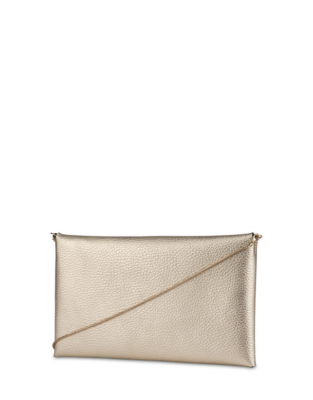 Mail clutchbag in laminated tumbled calfskin Photo 3