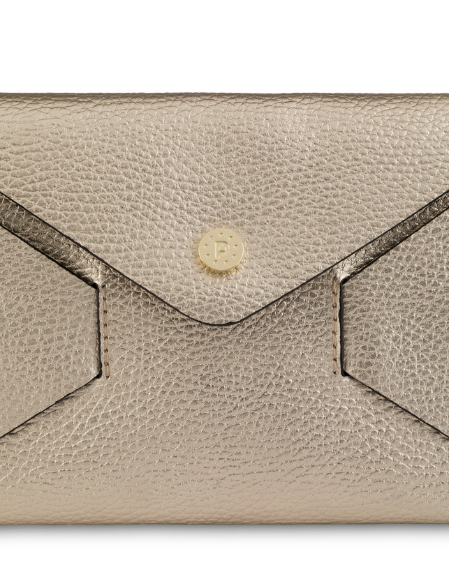 Mail clutchbag in laminated tumbled calfskin Photo 5
