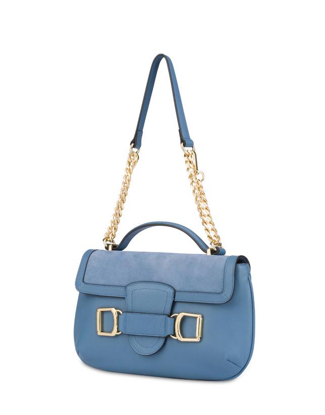 Annabelle handbag in garnet calfskin and suede leather Photo 2