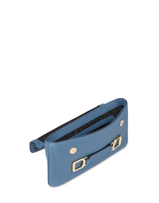 Annabelle handbag in garnet calfskin and suede leather Photo 4