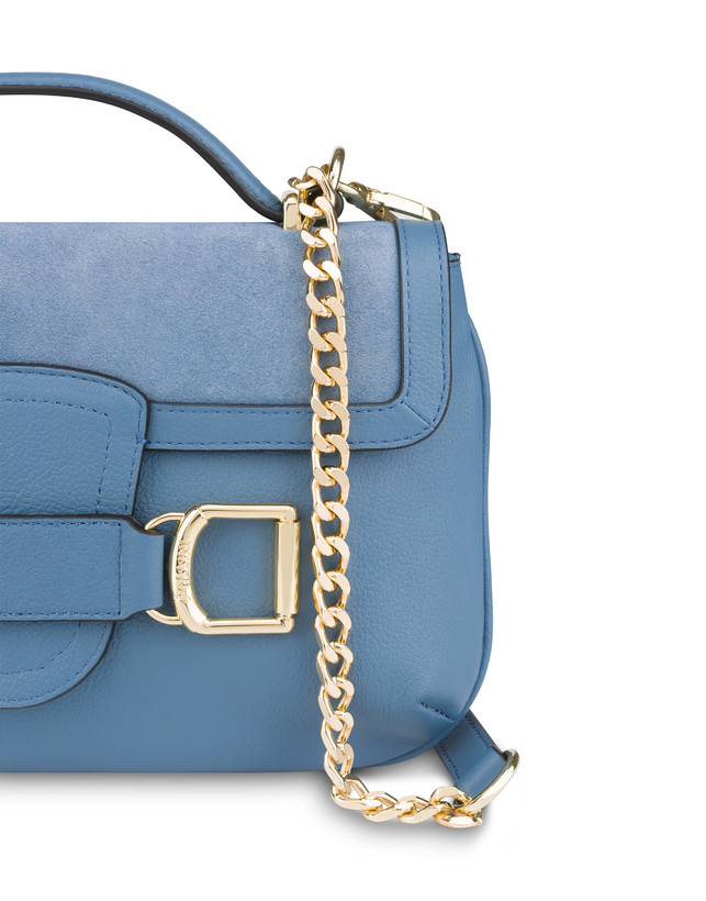 Annabelle handbag in garnet calfskin and suede leather Photo 5