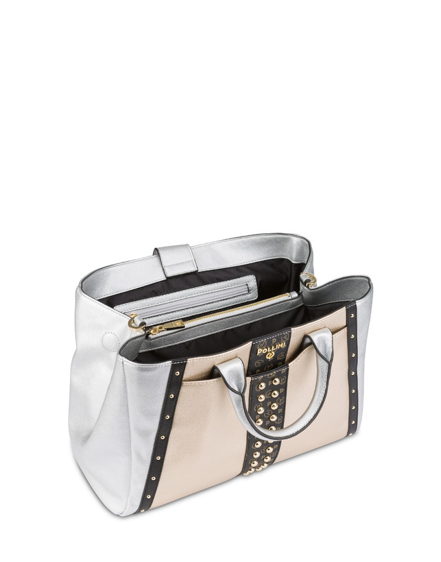 Borsa doppio manico con borchie Helena Photo 4