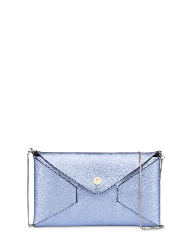 Mail clutchbag in laminated tumbled calfskin Photo 1