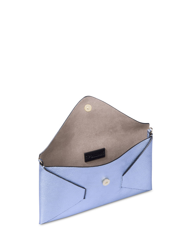 Mail clutchbag in laminated tumbled calfskin Photo 4