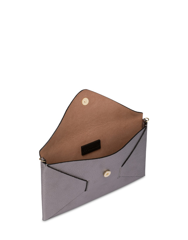 Mail clutchbag in laminated tumbled calfskin Photo 4