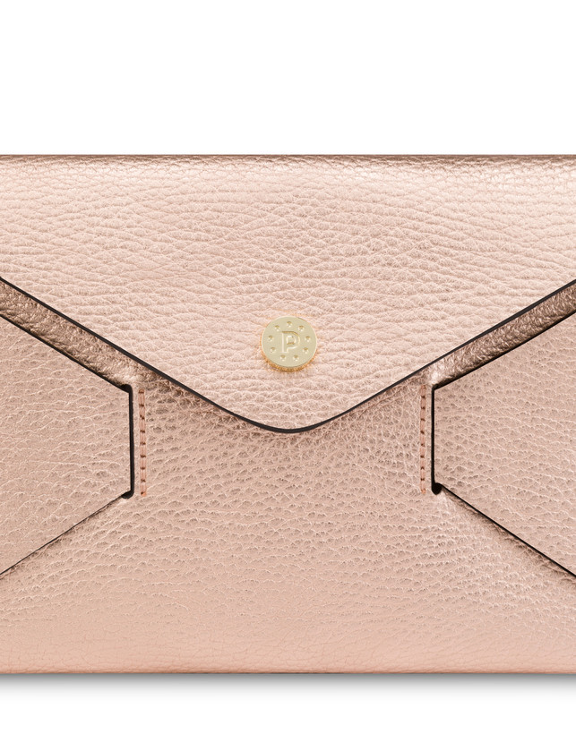 Mail clutchbag in laminated tumbled calfskin Photo 5