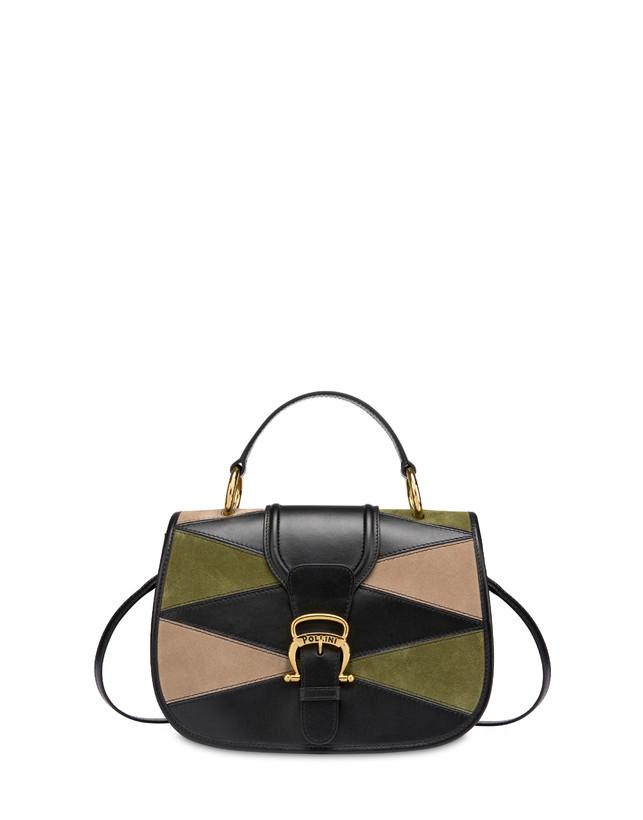 Patchwork handbag in suede and Cabiria Buckle calfskin Photo 1