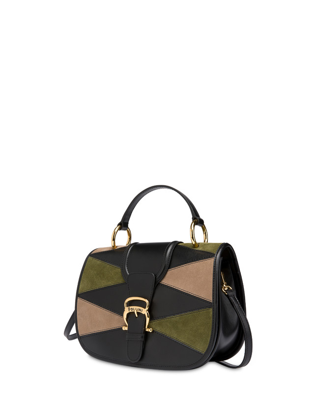 Patchwork handbag in suede and Cabiria Buckle calfskin Photo 2