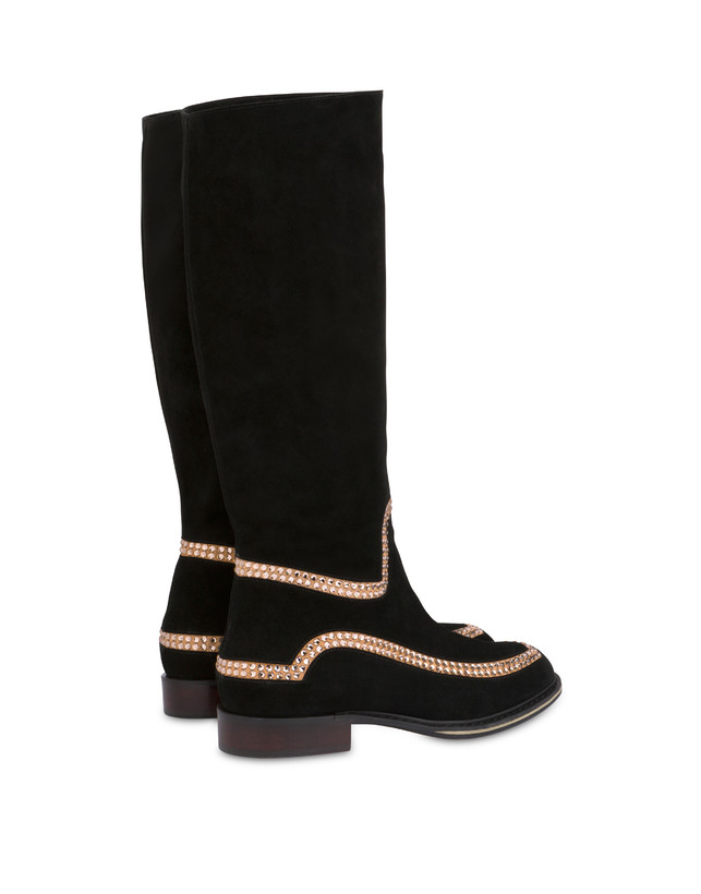 Nataly X Pollini suede boots with rhinestones Photo 3