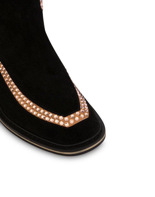 Nataly X Pollini suede boots with rhinestones Photo 4