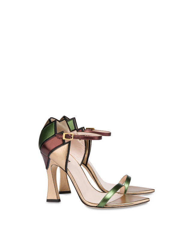 Nataly X Pollini laminated nappa leather sandals Photo 2