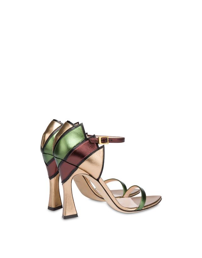 Nataly X Pollini laminated nappa leather sandals Photo 3