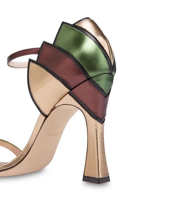 Nataly X Pollini laminated nappa leather sandals Photo 4
