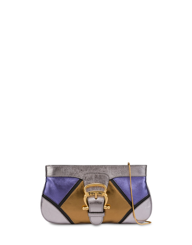 Nataly X Pollini clutch bag in laminated nappa with rhinestones Photo 1