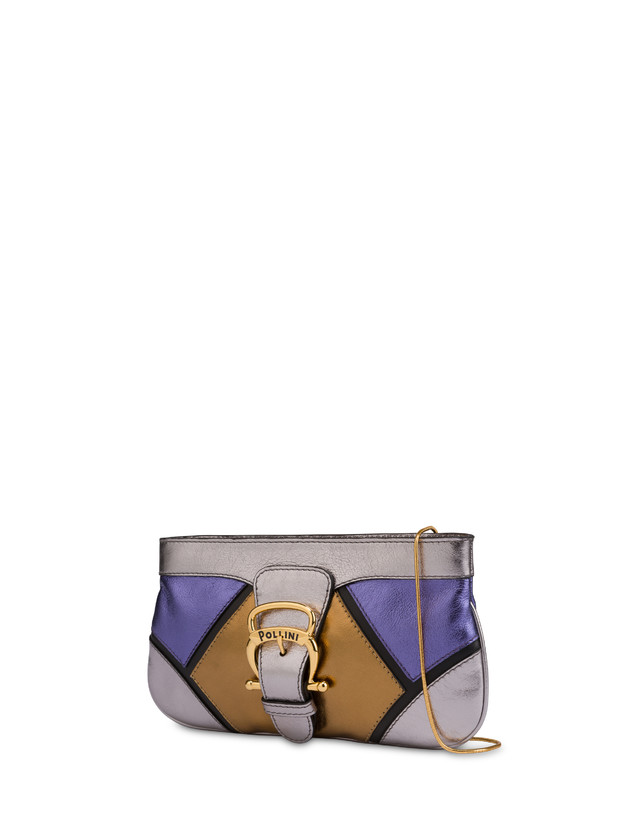 Nataly X Pollini clutch bag in laminated nappa with rhinestones Photo 2