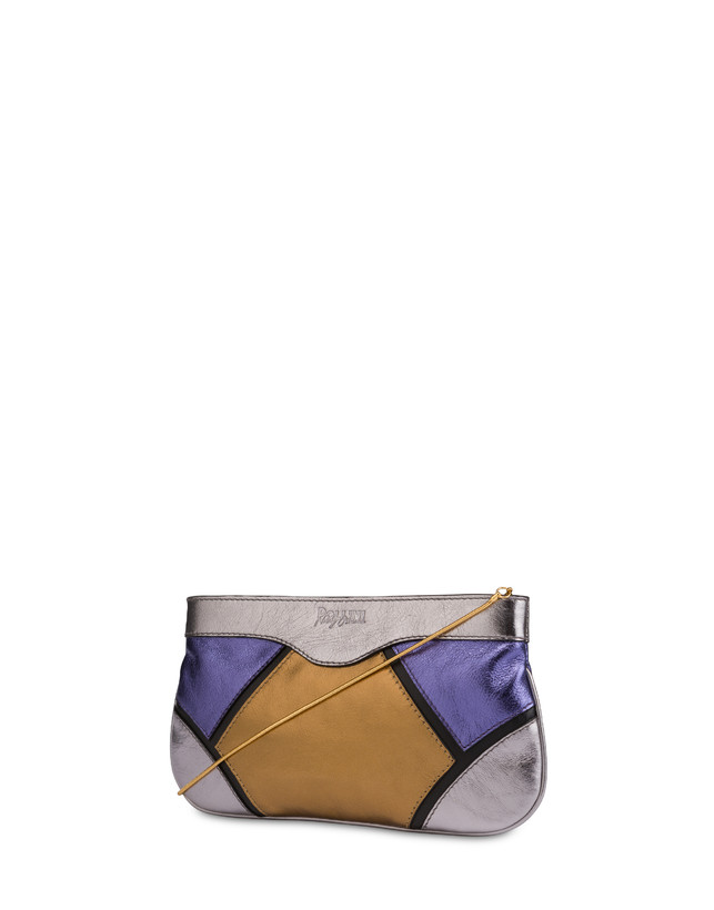 Nataly X Pollini clutch bag in laminated nappa with rhinestones Photo 3