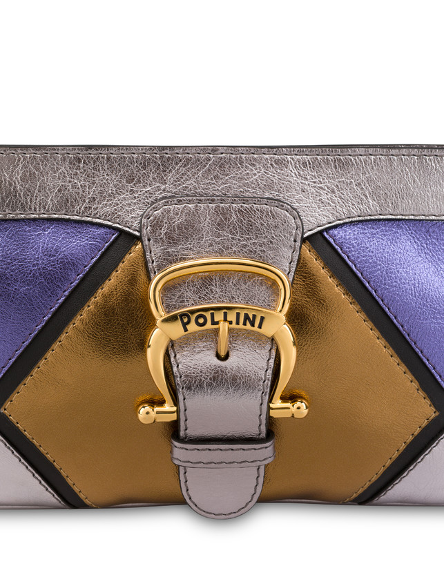 Nataly X Pollini clutch bag in laminated nappa with rhinestones Photo 5