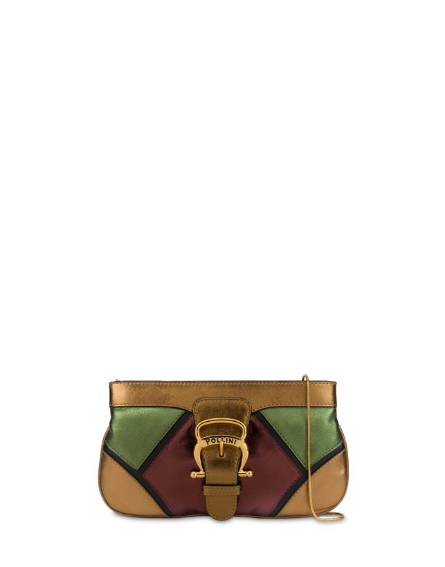 Nataly X Pollini clutch bag in laminated nappa with rhinestones Photo 1