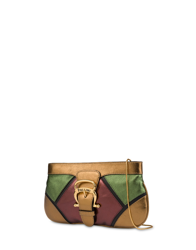 Nataly X Pollini clutch bag in laminated nappa with rhinestones Photo 2