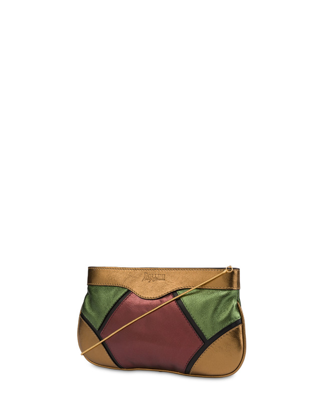 Nataly X Pollini clutch bag in laminated nappa with rhinestones Photo 3