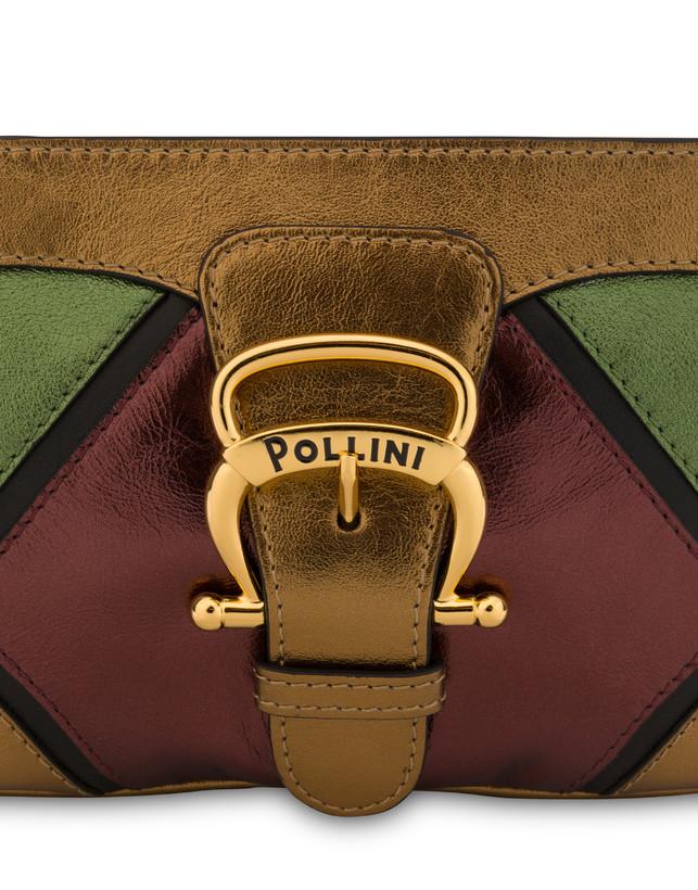 Nataly X Pollini clutch bag in laminated nappa with rhinestones Photo 5