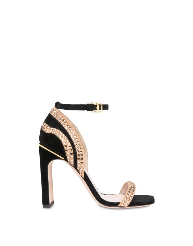 Nataly X Pollini suede sandals with rhinestones Photo 1