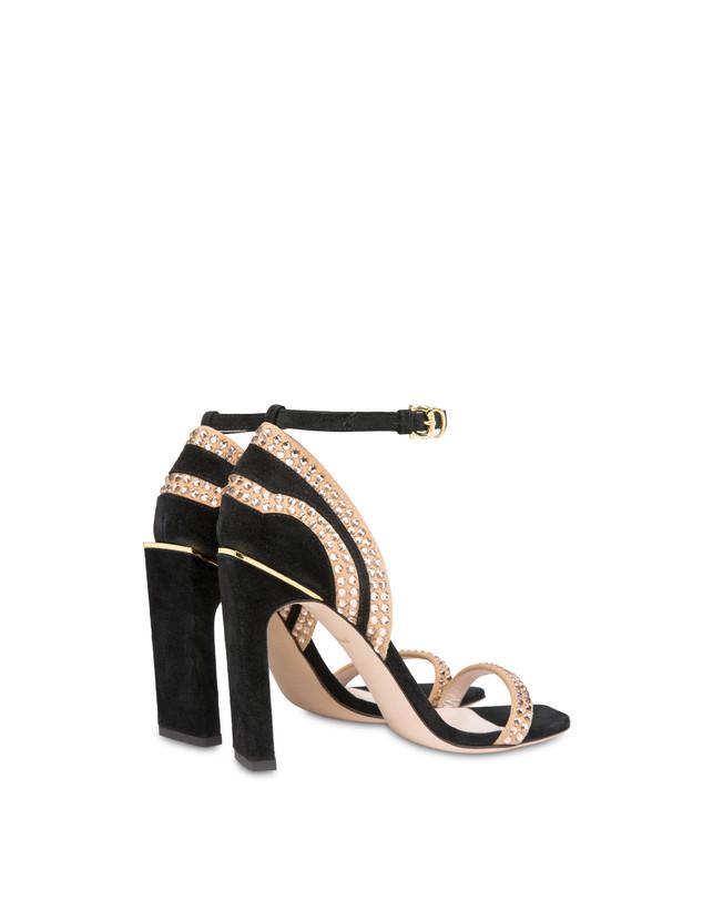 Nataly X Pollini suede sandals with rhinestones Photo 3