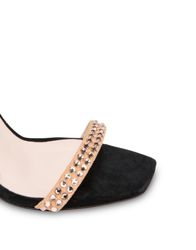Nataly X Pollini suede sandals with rhinestones Photo 4