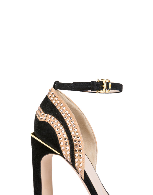 Nataly X Pollini suede sandals with rhinestones Photo 5