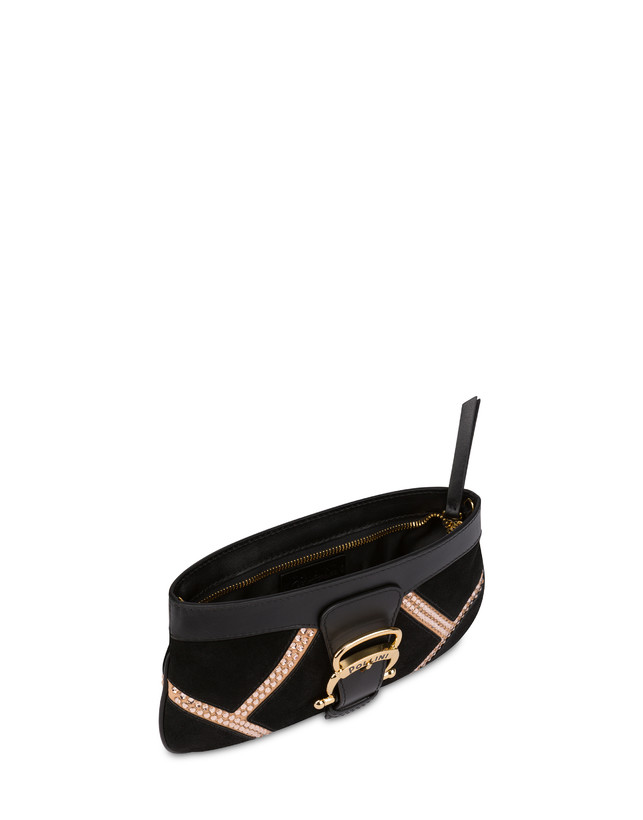Nataly X Pollini Suede clutch bag with rhinestones Photo 4