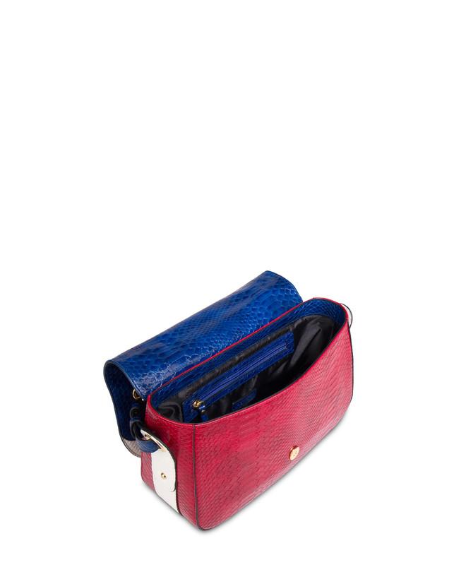 Marina oulder bag with python print Photo 4