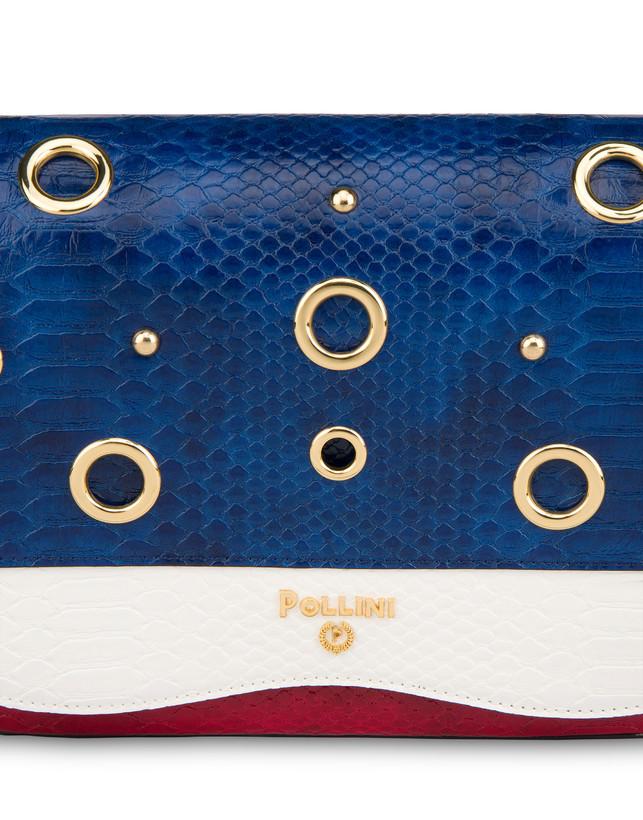 Marina oulder bag with python print Photo 5