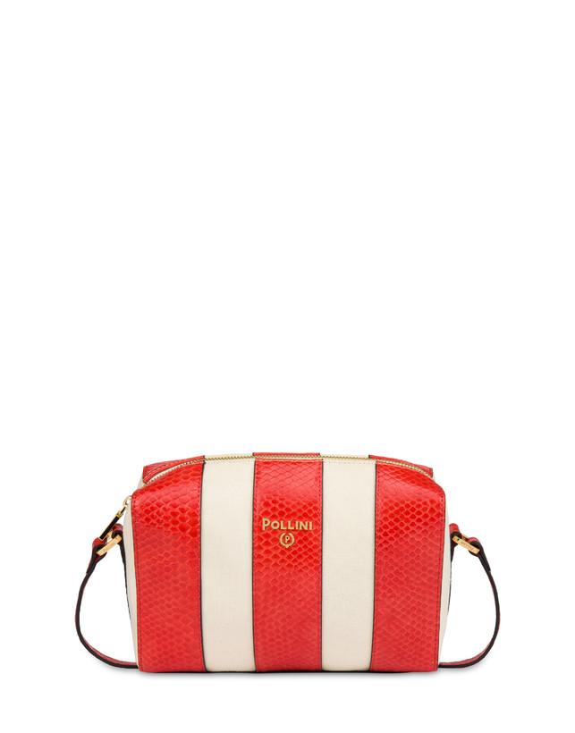 Stripe On Me canvas shoulder bag Photo 1