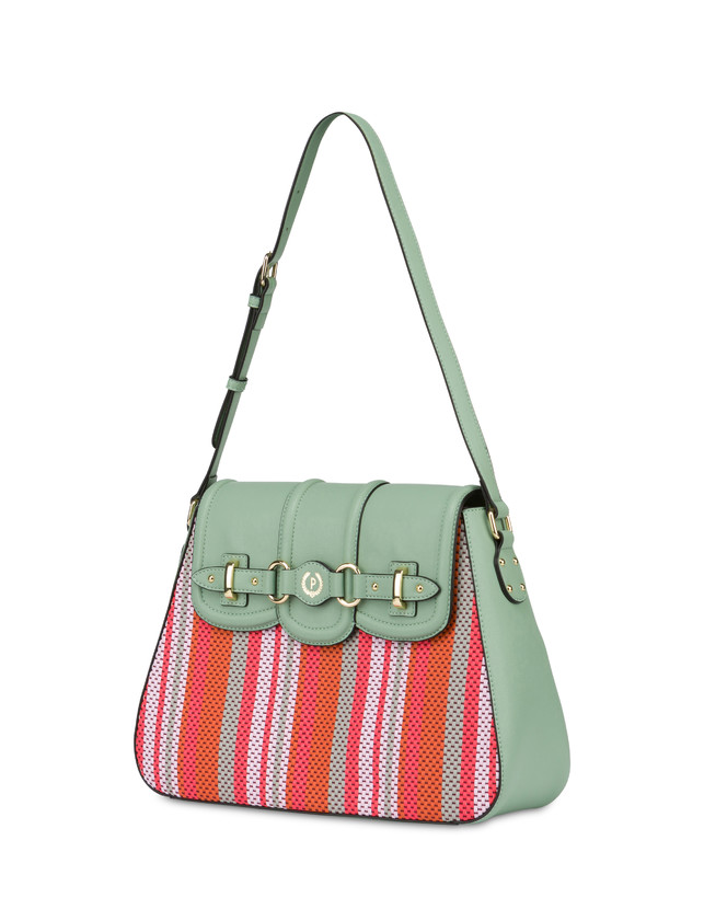 Jackie O' striped shoulder bag Photo 2