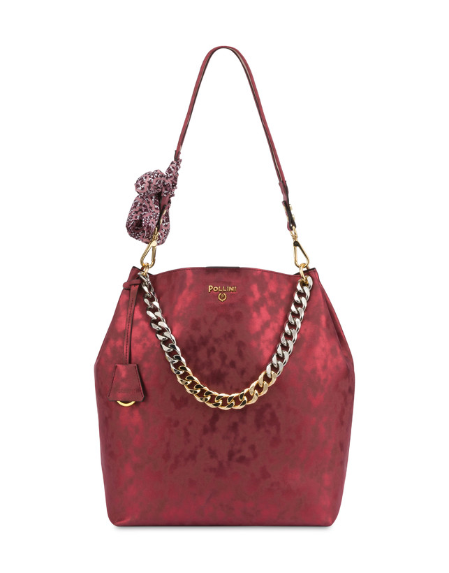 Darlene Chic laminated suede hobo bag Photo 1