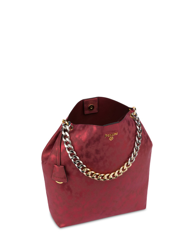 Darlene Chic laminated suede hobo bag Photo 4