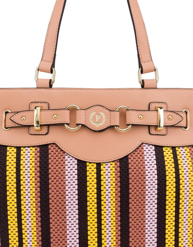 Jackie O' striped shopping bag Photo 6