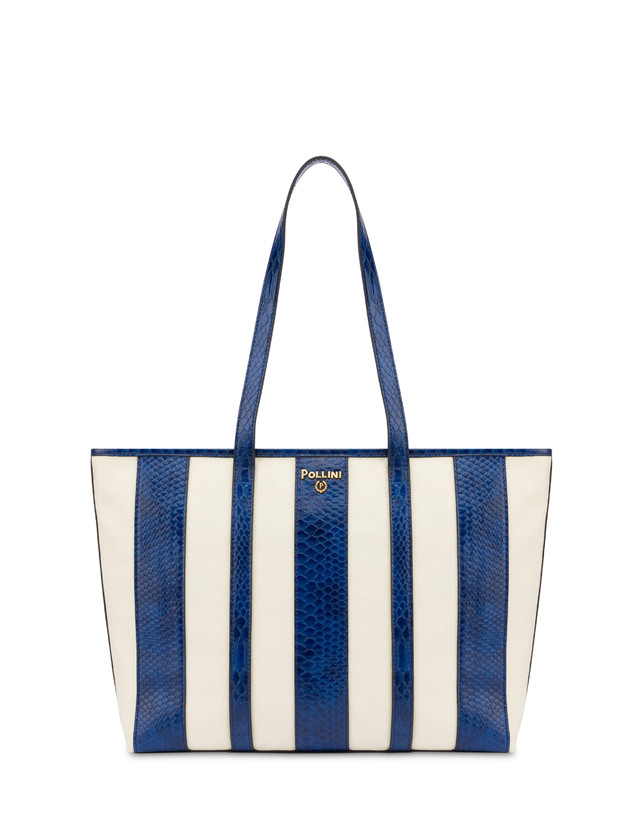 Stripe On Me canvas shopping bag Photo 1