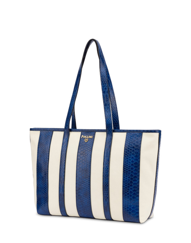 Stripe On Me canvas shopping bag Photo 2