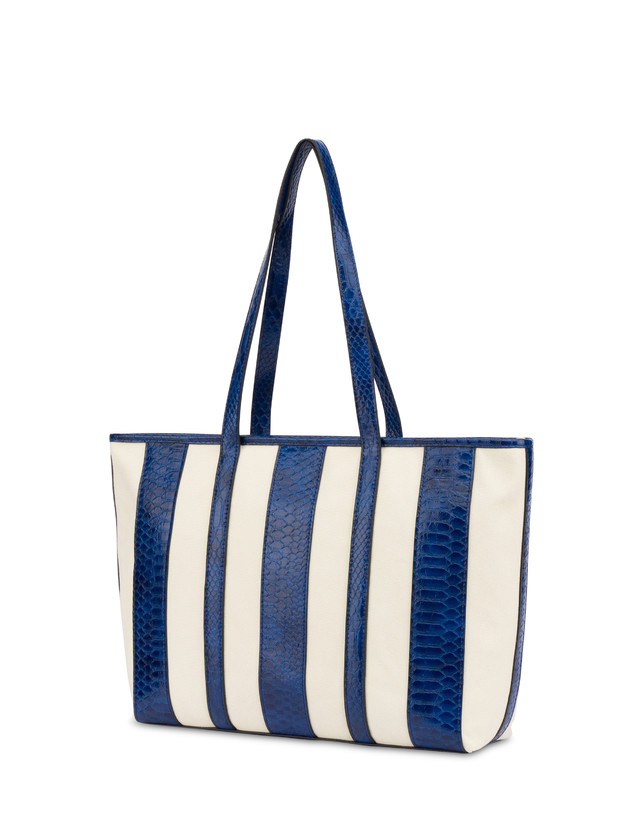 Stripe On Me canvas shopping bag Photo 3