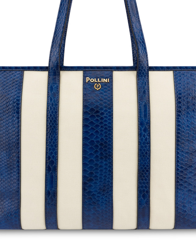 Stripe On Me canvas shopping bag Photo 5