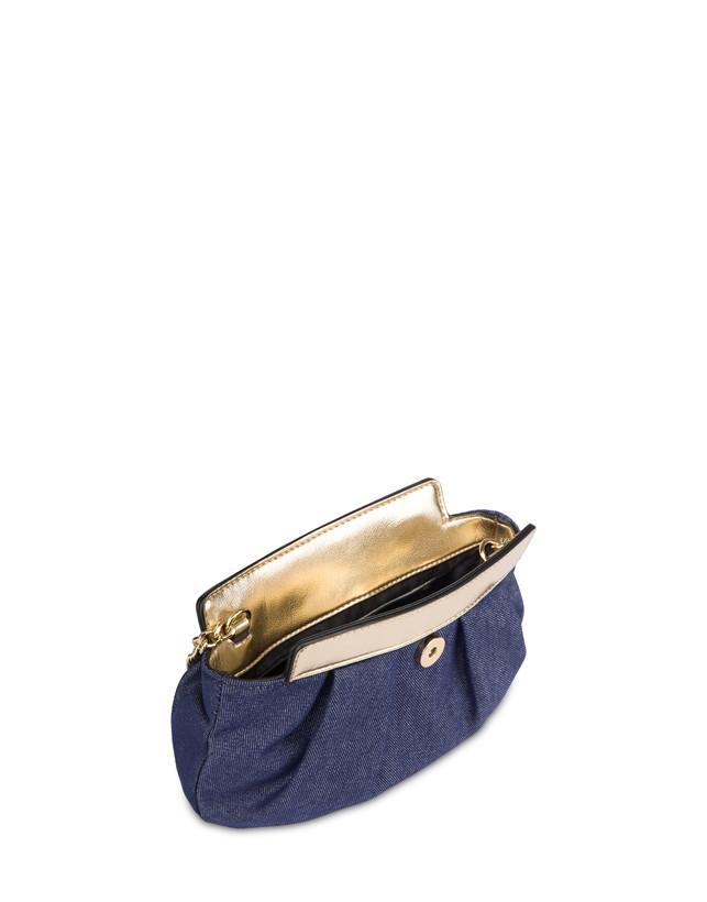 Andromeda Clutch bag in denim and laminate Photo 4