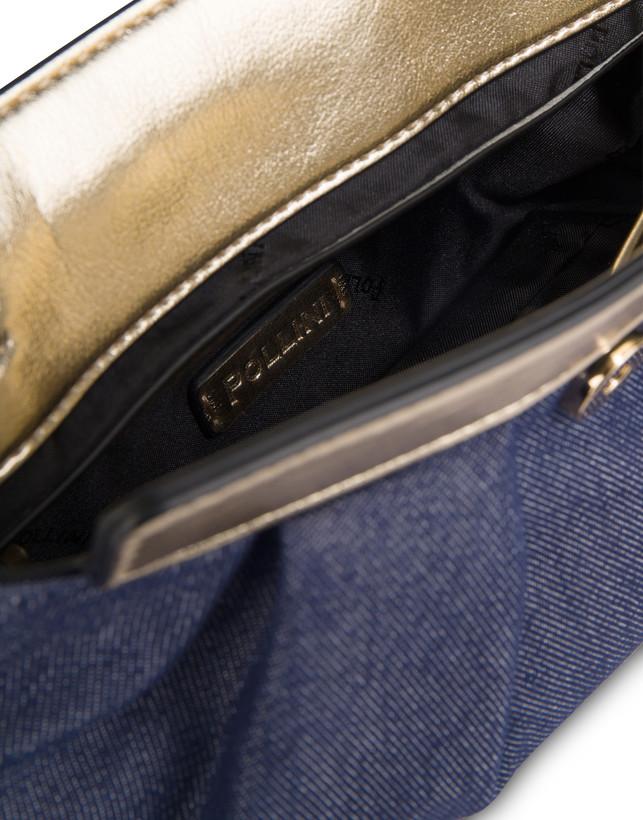 Andromeda Clutch bag in denim and laminate Photo 5
