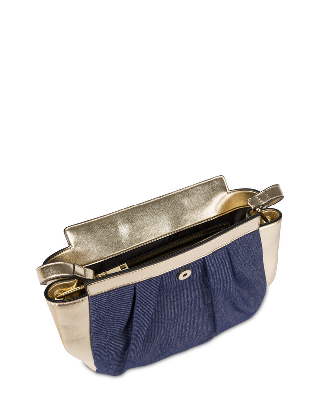 Andromeda shoulder bag in denim and laminate Photo 4