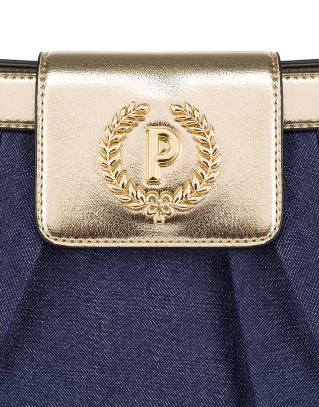 Andromeda shoulder bag in denim and laminate Photo 5