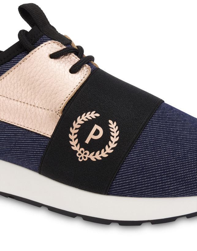 Sneakers slip-on in denim Elastic Run Photo 4